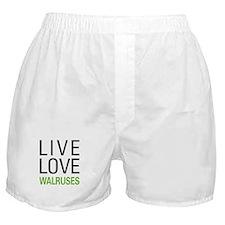 Live Love Walruses Boxer Shorts