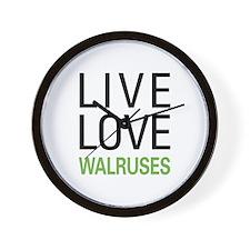 Live Love Walruses Wall Clock