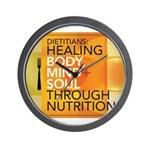 Healing Through Nutrition Wall Clock
