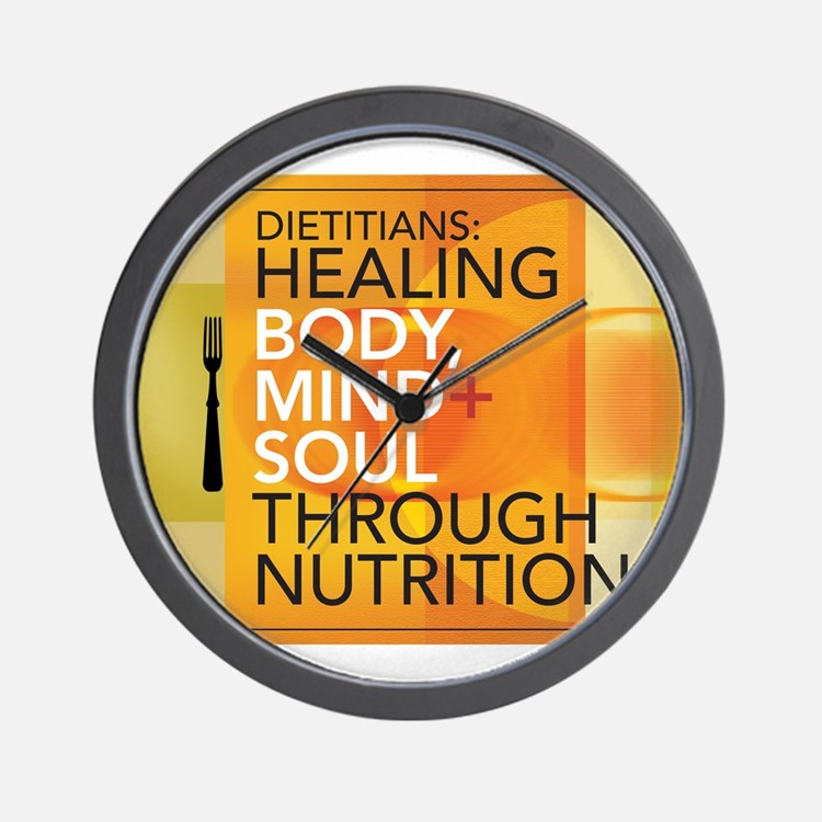 Healing Through Nutrition Wall Clock