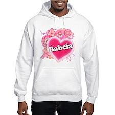 Babcia Heart Art Hoodie