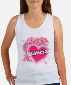 Babcia Heart Art Women's Tank Top