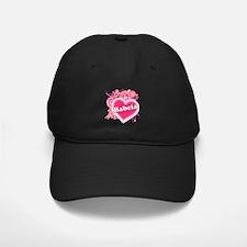 Babcia Heart Art Baseball Hat
