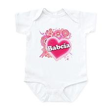 Babcia Heart Art Infant Bodysuit