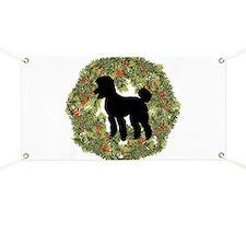 Poodle Xmas Wreath Banner