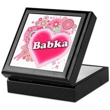 Babka Heart Art Keepsake Box