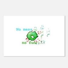No Mess No Fun Postcards (Package of 8)