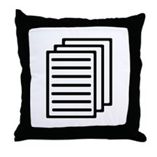 Documents Throw Pillow