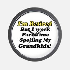 Cute Retirement gag Wall Clock