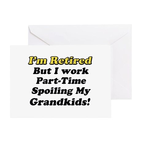 Im Retired Spiling Greeting Cards