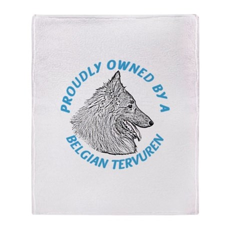 Proudly Owned Belgian Tervure Throw Blanket