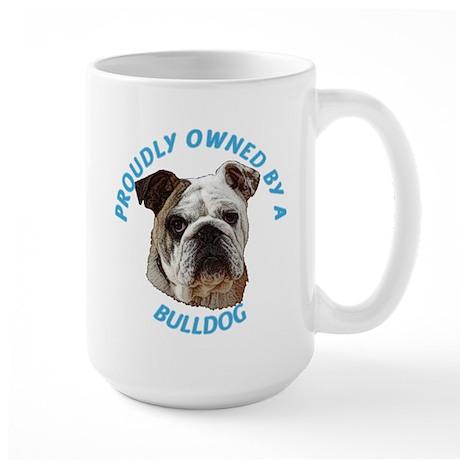 Proudly Owned Bulldog Large Mug