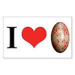 I *heart* Pysanka I Sticker (Rectangle 10 pk)