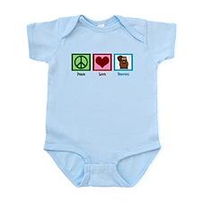 Peace Love Beavers Infant Bodysuit