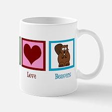 Peace Love Beavers Mug