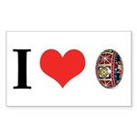 I *heart* Pysanka Sticker (Rectangle 10 pk)