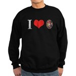 I *heart* Pysanka Sweatshirt (dark)