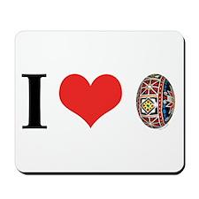 I *heart* Pysanka Mousepad