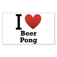 I Love Beer Pong Decal