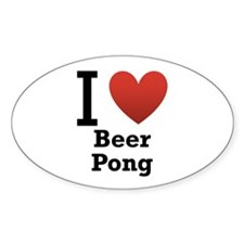 I Love Beer Pong Bumper Stickers
