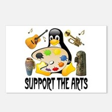 Support The Arts Cute Penguin Postcards (Package o