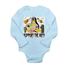 Support The Arts Cute Penguin Long Sleeve Infant B