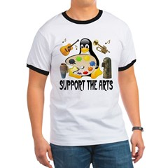 Support The Arts Cute Penguin T