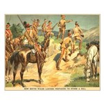 South Wales Lancers Small Poster