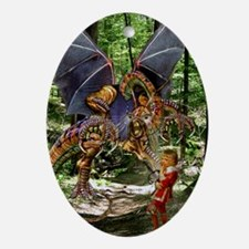 The Jabberwocky Ornament (Oval)