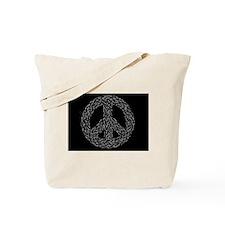 Celtic Peace Sign Tote Bag