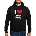 I Love Beer Pong Hoodie (dark)