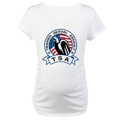 TSA Trained Sexual Assault Maternity T-Shirt