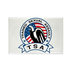 TSA Trained Sexual Assault Rectangle Magnet