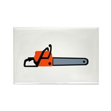 Chainsaw Rectangle Magnet