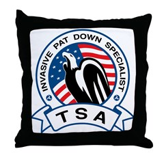 TSA Invasive Pat Down Specialist Throw Pillow