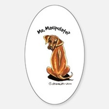 Rhodesian Ridgeback Manipulate Sticker (Oval)