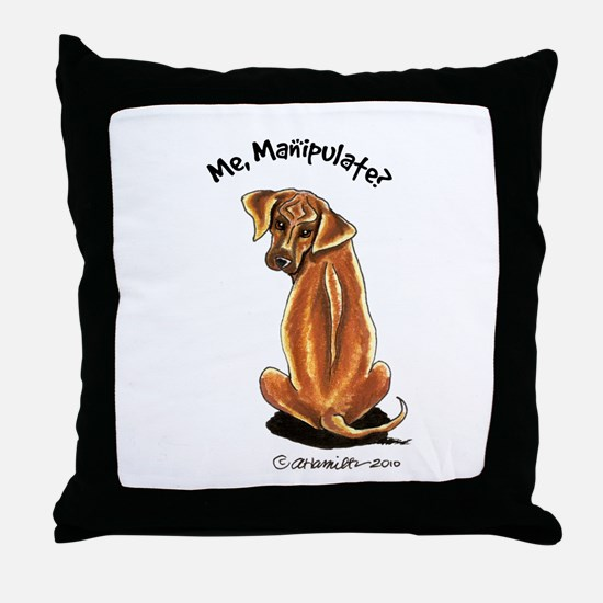 Rhodesian Ridgeback Manipulate Throw Pillow