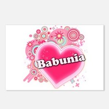 Babunia Heart Art Postcards (Package of 8)