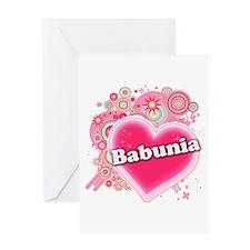 Babunia Heart Art Greeting Card