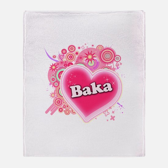 Baka Heart Art Throw Blanket