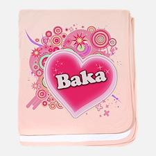 Baka Heart Art baby blanket