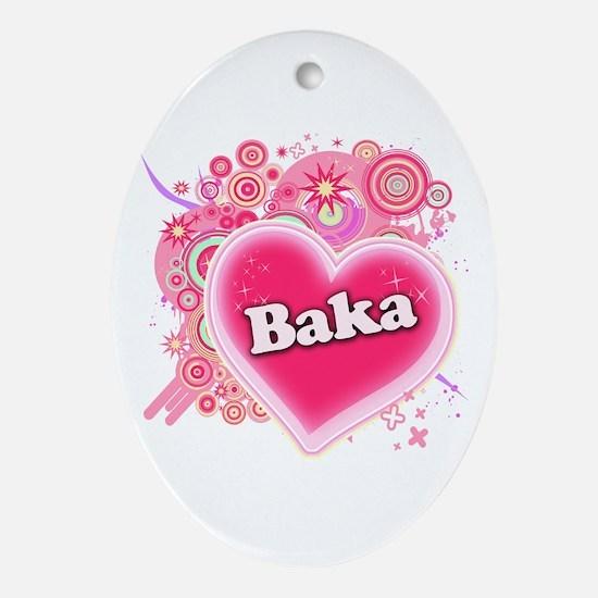 Baka Heart Art Ornament (Oval)