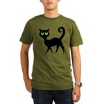 Cat With Green Eyes Organic Men's T-Shirt (dark)