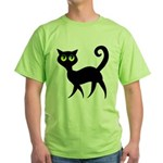 Cat With Green Eyes Green T-Shirt