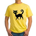 Cat With Green Eyes Yellow T-Shirt