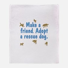 Adopt a Rescue Throw Blanket