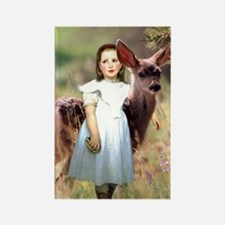 Alice & The Fawn Rectangle Magnet