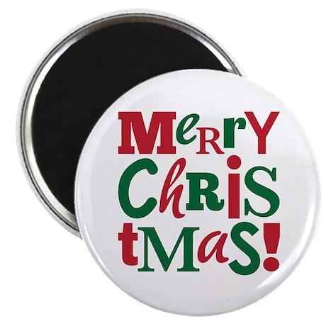 """Merry Christmas"" 2.25"" Magnet (10"