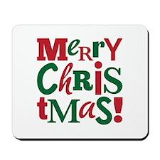 """Merry Christmas"" Mousepad"