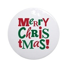 """Merry Christmas"" Ornament (Round)"